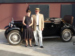 John and Tricia winning the Concours at Tours France, in 1932 Riley 9